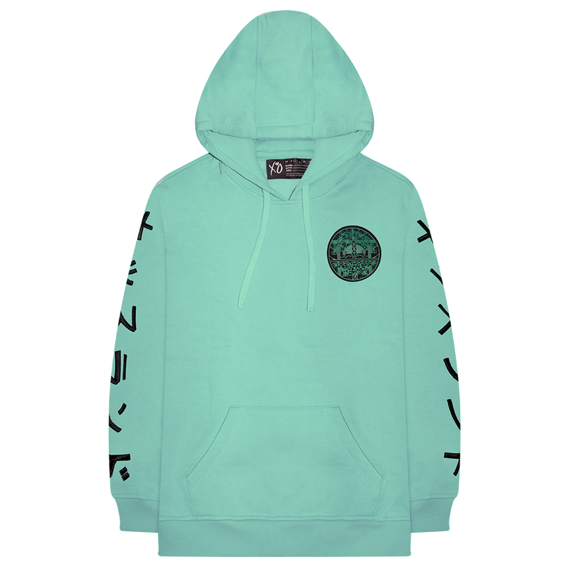 KISS LAND SKYLINE FLEECE PULLOVER HOODIE