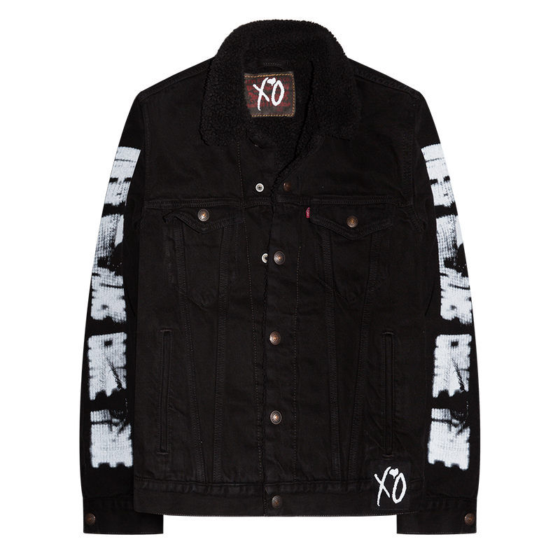 XO VISIONS DENIM SHERPA JACKET