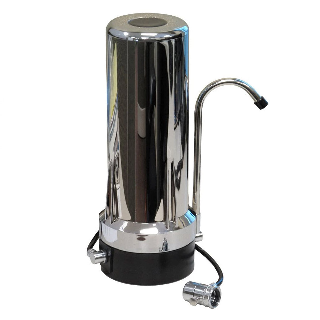 Chrome Countertop Water Filter Housing