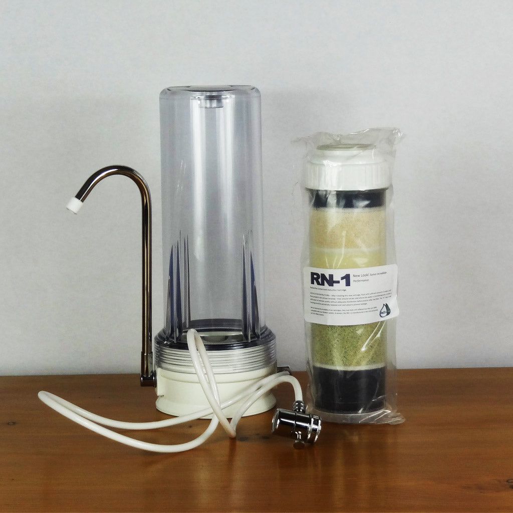Clear Plastic Countertop Housing Bundle with 1 CuZn Radiation filter