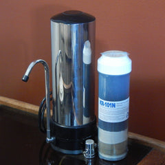 Stainless Steel Shell Counter Top Housing Bundle with 1 Wide Spectrum Water Filter
