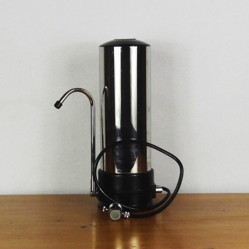 Stainless Steel Shell Single Countertop Water Filter Housing