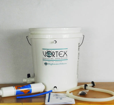 The Vortex Non-Electric Water Distiller Kit - Pre-Installed in Bucket