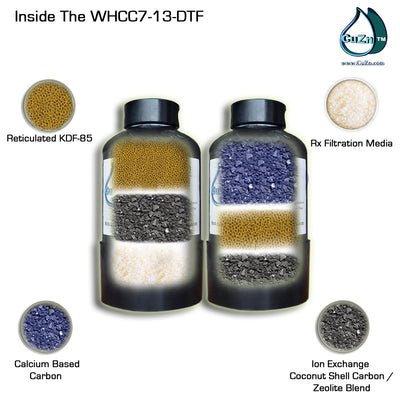 Whole House Wide Spectrum + Pro Upgrade Advanced Water Filter by CuZn WHCC7-13-DTF