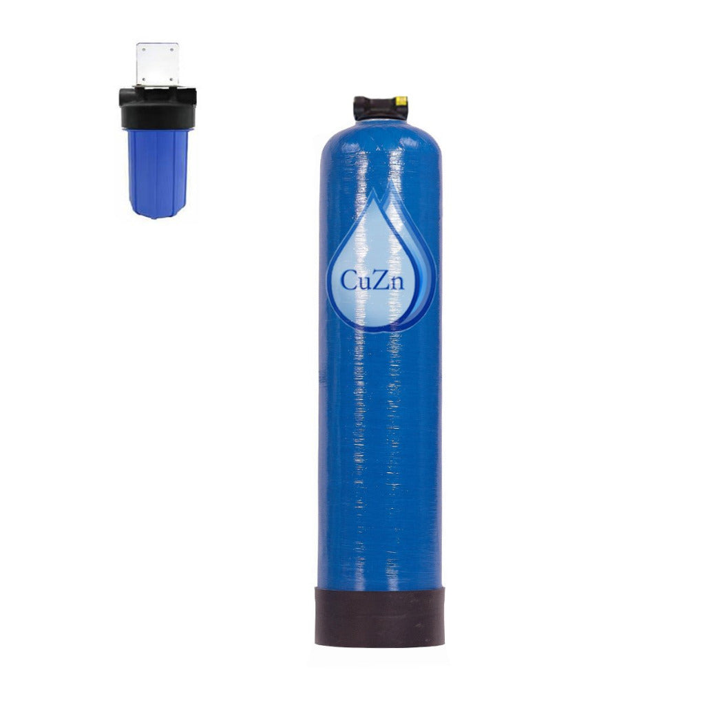 Well Water Whole House Water Filter & Salt Free Water Softener Wide