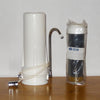 White Plastic Counter Top Housing Bundle with 1 Wide Spectrum Water Filter