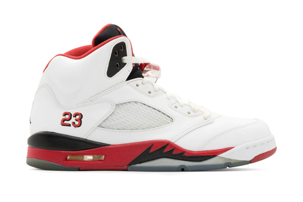 Jordan 5 Retro 'Fire Red' (2013) - White/Fire Red (Pre Owned)