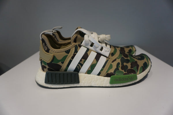 super popular 87368 97bc0 adidas NMD R1 Bape Olive Camo (Pre owned)