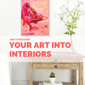 How to Photoshop Your Art into Interiors