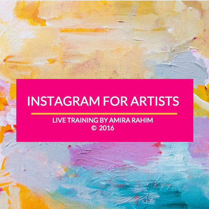 Special Offer - Instagram & Branding For Artists - 3 Live Training Sessions with Amira & Desha