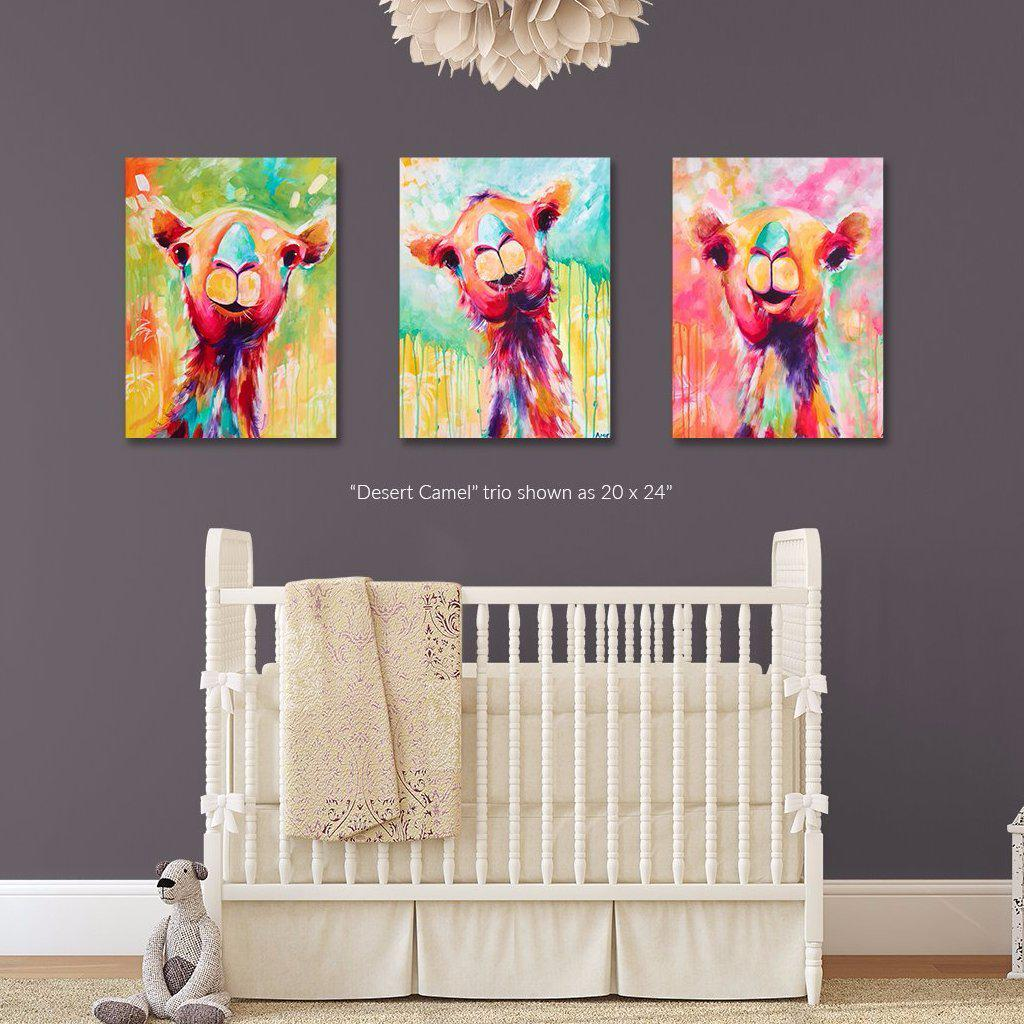 Desert Camel Trio - Set of 3 Fine Art Print Bundle