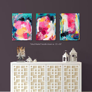 Ubud Market - Set of 3 Fine Art Print Bundle