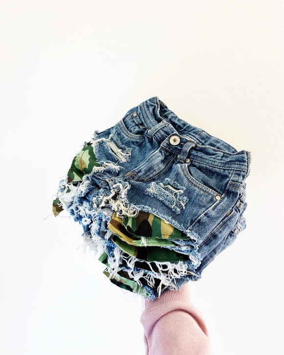 """Camo pocket"" shorties"