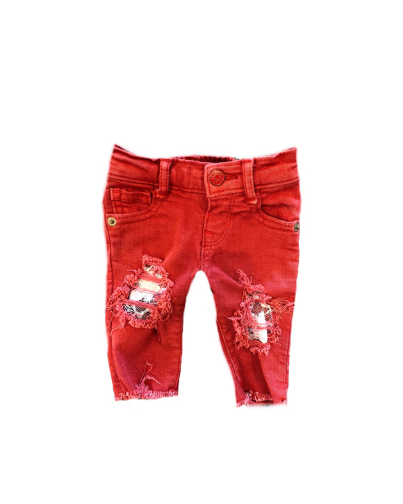 Christmas Lace skinnies