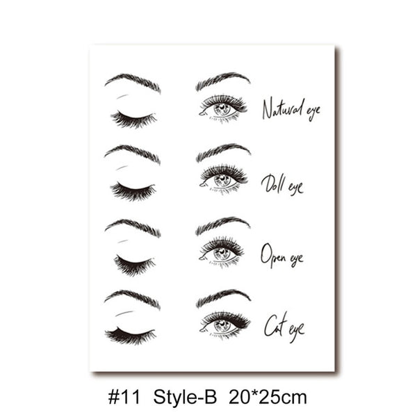 Eye Lash Extension Visual Wall Chart