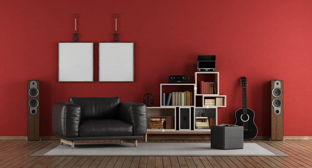 Introduce red into your living room