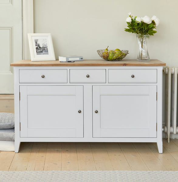 Grey painted sideboard