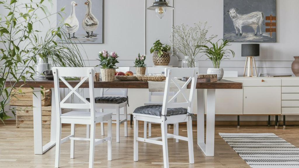 Reclaimed dining set in rustic kitchen
