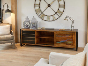 Asia Reclaimed Wood Sideboard - Extra Large