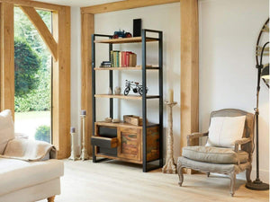 Asia Large Reclaimed Wood Shelving Unit