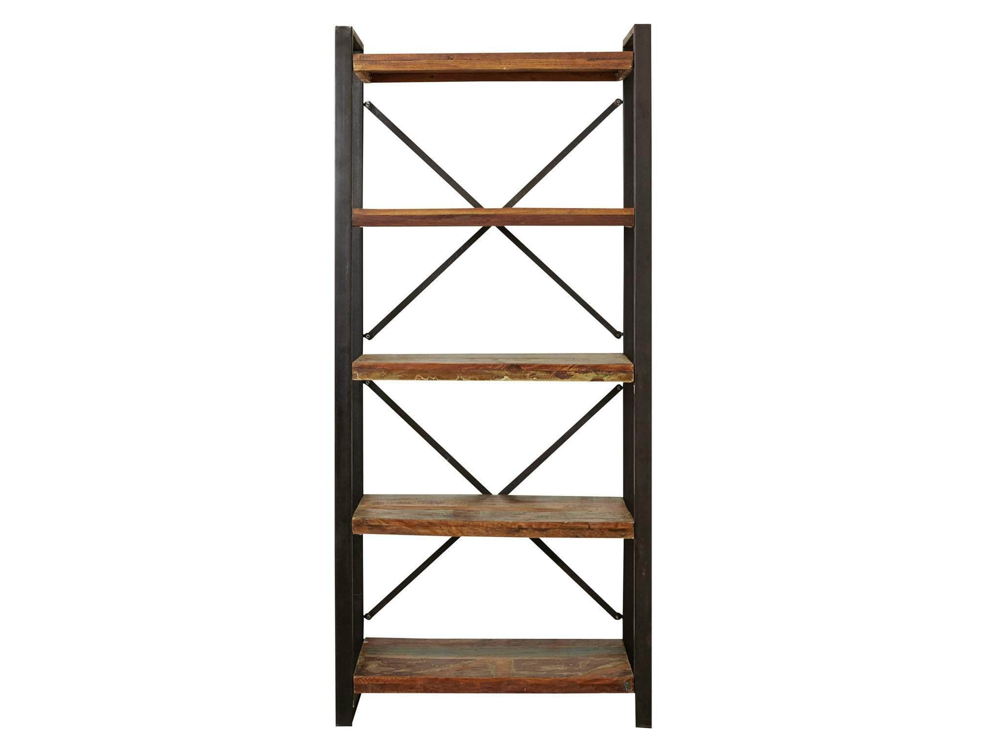 Asia Reclaimed Wood Bookcase Large