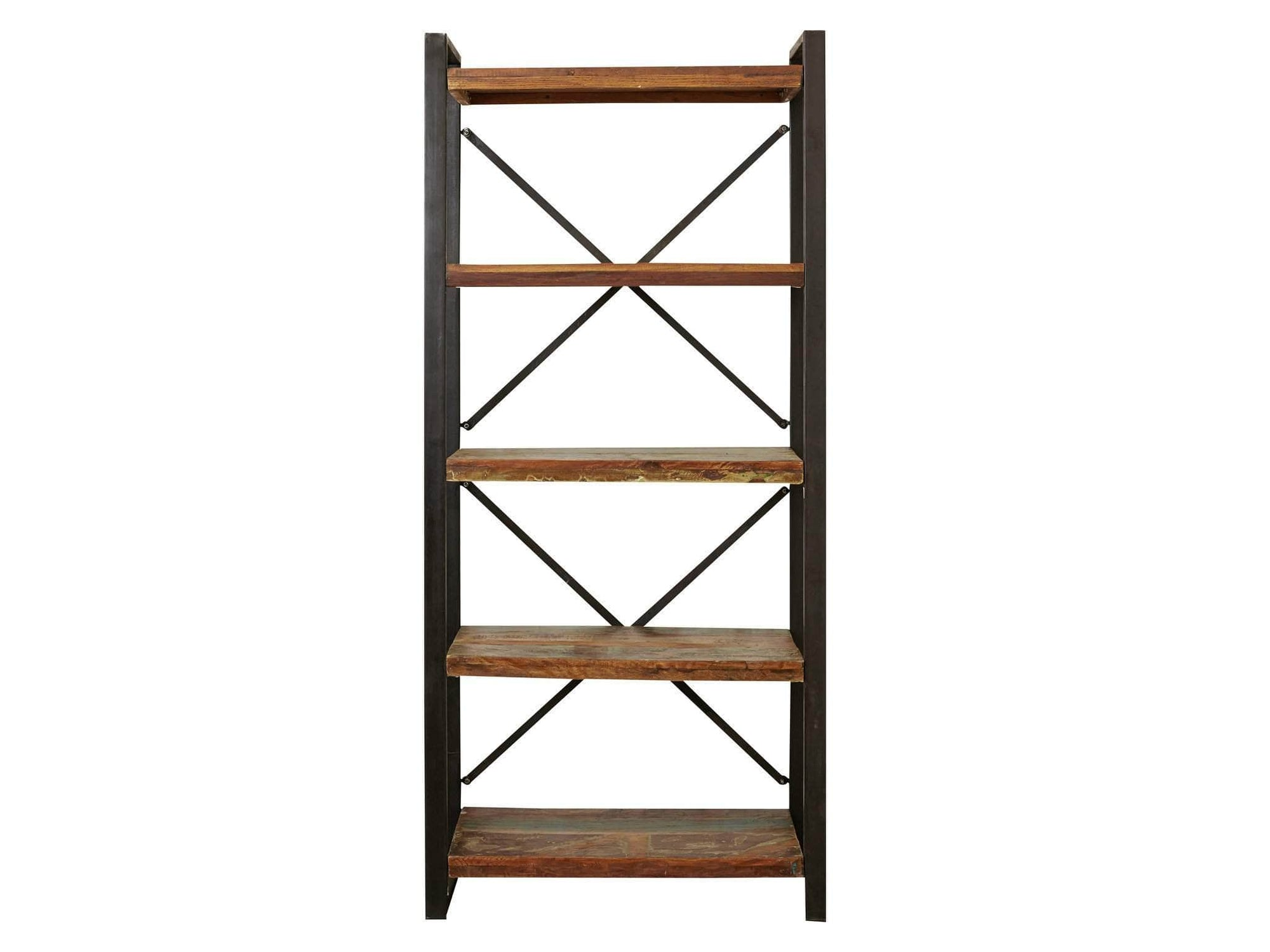 Asia large reclaimed wood bookcase
