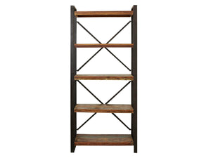 Asia large, five shelf reclaimed wood bookcase
