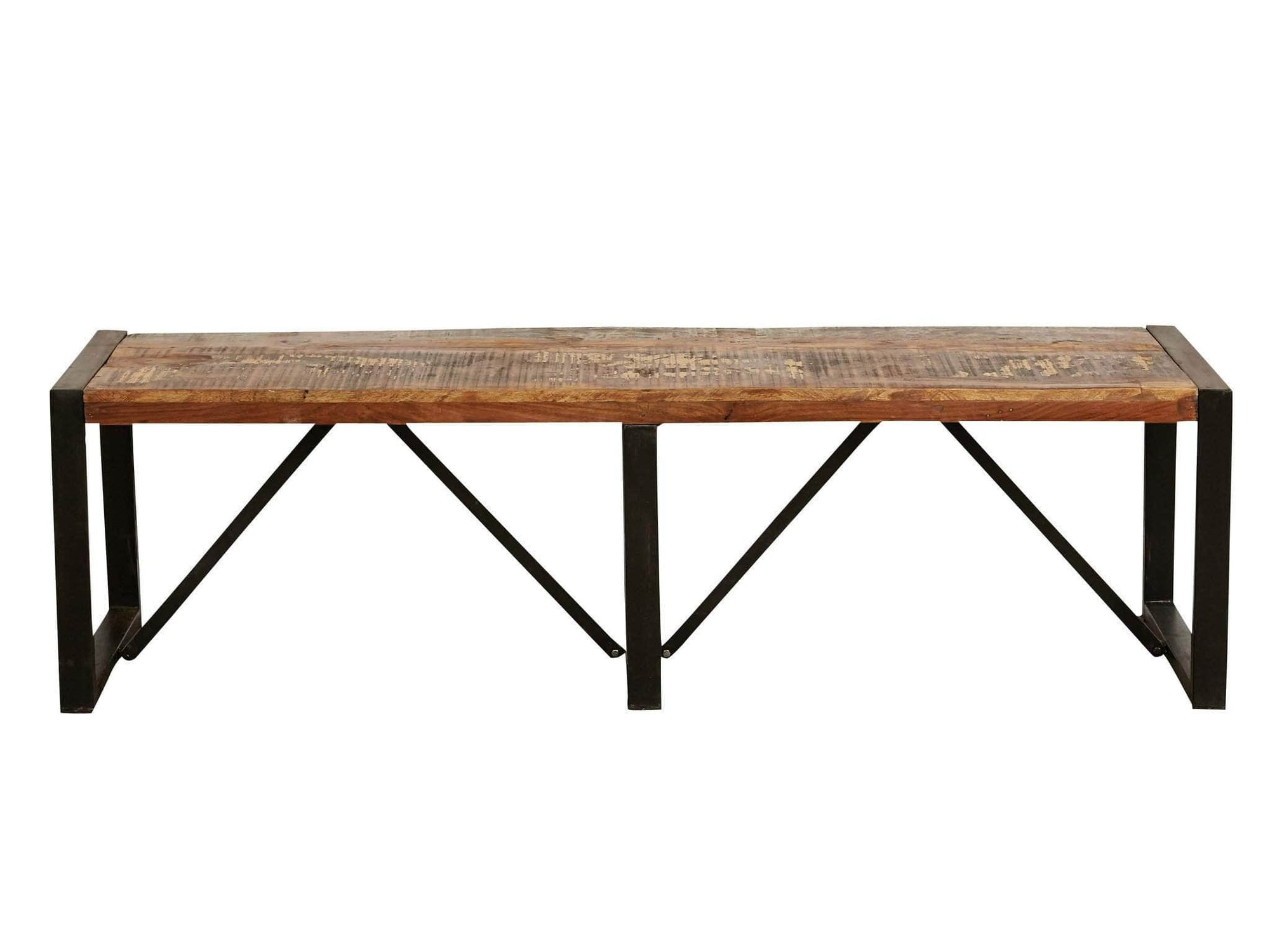 Large reclaimed wood dining bench