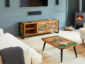 Asia Reclaimed Wood TV Cabinet - Large