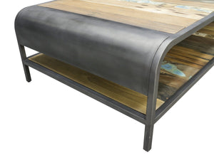Bristol Reclaimed Coffee Table with Shelf