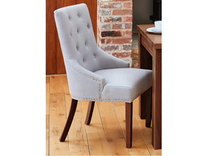 Sola Walnut Upholstered Dining Chairs - Set of 2