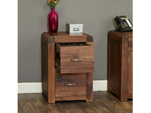 Sola Solid Walnut Filing Cabinet - Small