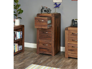 Sola Solid Walnut Filing Cabinet - Large