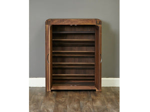Sola Walnut Shoe Cupboard