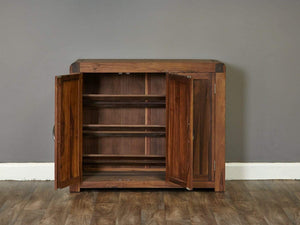 Sola Walnut Shoe Cupboard - Extra Large