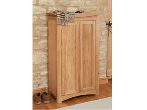 Allbrook Light Oak Shoe Storage Cupboard