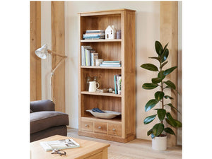Obell Solid Oak Bookcase - Large