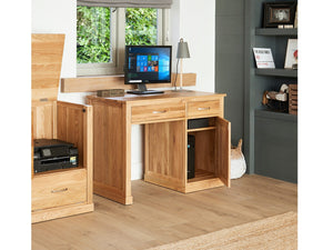 Obell Solid Oak Single Pedestal Home Office Desk