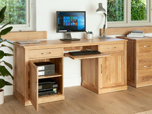 Obell Solid Oak Computer Desk - Large