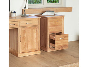 Obell Solid Oak Filing Cabinet - Small