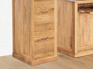 Obell Solid Oak Filing Cabinet - Large
