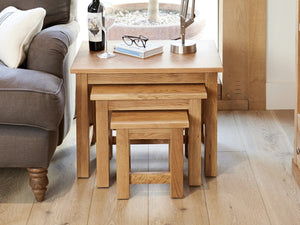 Obell Solid Oak Nest of Tables