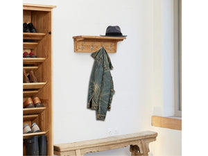Obell Solid Oak Wall Mounted Coat Rack
