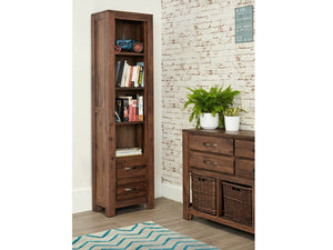 Orsina Walnut Bookcase - Narrow