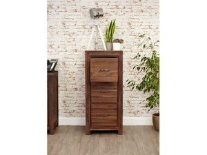 Orsina Solid Walnut Filing Cabinet - Large