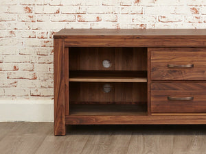 Orsina Solid Walnut TV Stand - Large