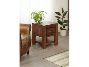 Orsina Walnut Lamp Table / Bedside Table - Small