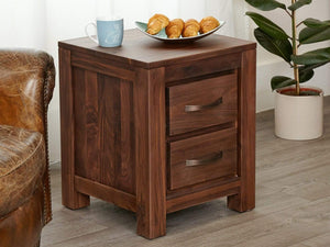 Orsina Solid Walnut Lamp / Bedside Table
