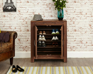 Orsina Solid Walnut Shoe Cabinet - Small