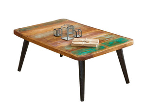 Colourful reclaimed wood coffee table